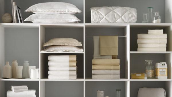 Aprenda a guardar roupas de cama, mesa e banho